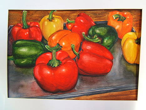 Peppers for Roasting by Doris Daigle