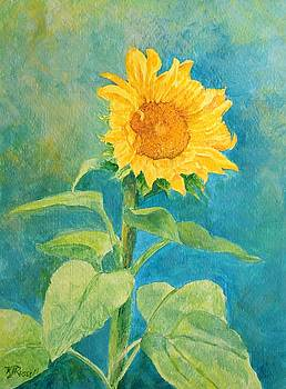 K Joann Russell - Perky Sunflower Colorful Painting