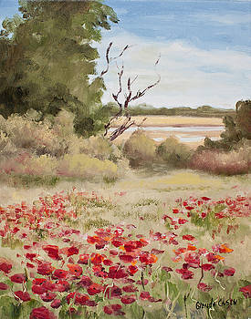 Perpetual Poppies I by Glenda Cason