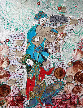 Persian painting # 1 by Sima Amid Wewetzer
