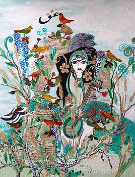 Persian painting # 2 by Sima Amid Wewetzer