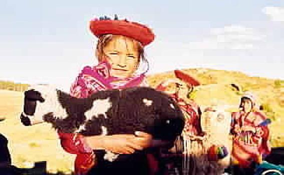 Peruvian Girl by Kathy Schumann