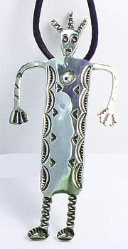 Petroglyph Shaman Spirit Talisman - Sterling Silver by Virginia Vivier