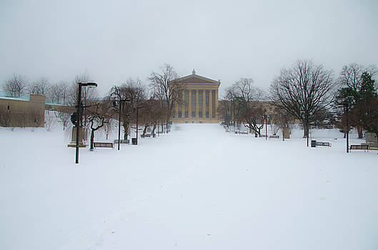 Philadelphia Museum of Art After a Snowfall by Bill Cannon