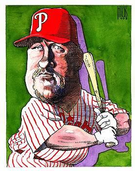 Phillies' Matt Stairs by Robert  Myers