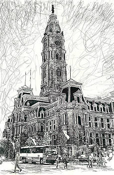 Philly City Hall by Michael  Volpicelli
