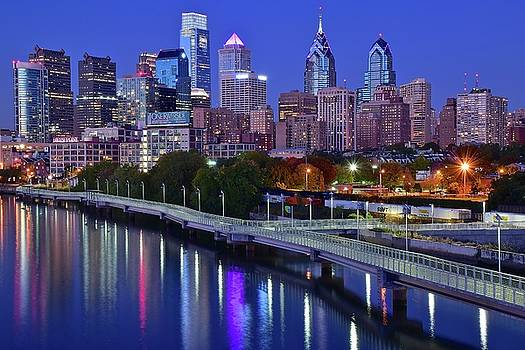 Philly Nightscape by Frozen in Time Fine Art Photography