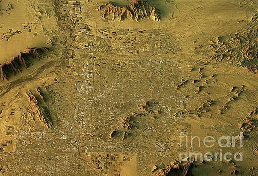 Phoenix 3D Landscape View East-West Natural Color by Frank Ramspott