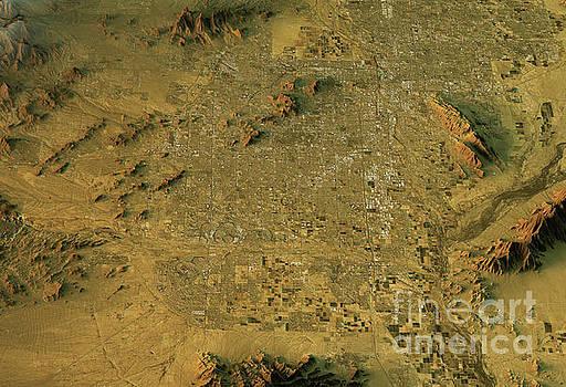 Phoenix 3D Landscape View West-East Natural Color by Frank Ramspott