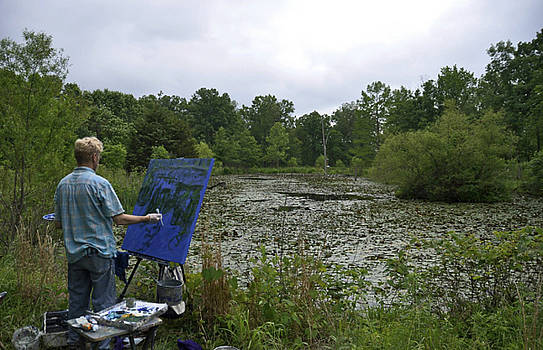 Brian Mahieu painting en plein air by Brian Mahieu