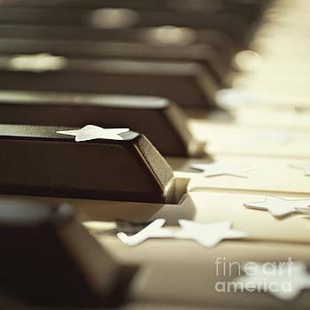 Piano keys and stars by Lyn Randle