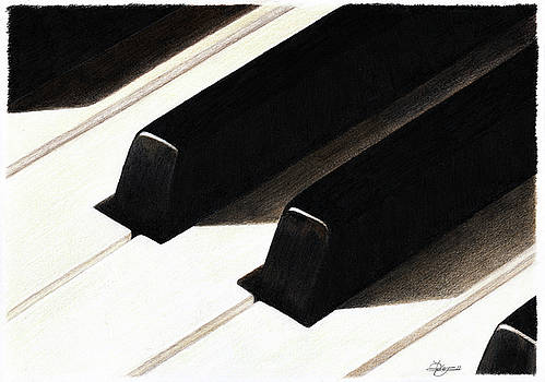 Piano Keys by Jeanne Delage