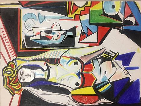 Picasso reproduction  by Calvin Jefferson