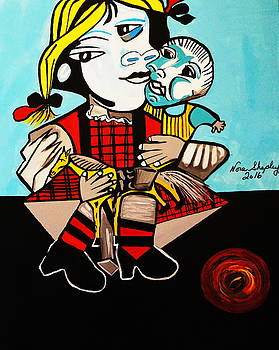 Picasso's Daughter And Doll by Nora Shepley