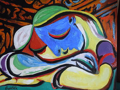 Picasso's  Juene Fille Enddormie by James Guentner