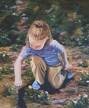 Picking Flowers by Theresa Higby