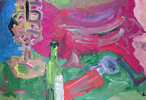 Picnic with a dry wine by Aleksandr Volkov