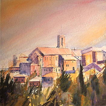 Pienza Tuscany Italy by HGW Schmidt