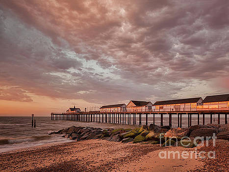 Pier at Sunrise by Colin and Linda McKie