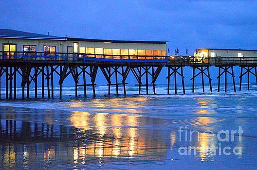 Pier before dawn by Julianne Felton