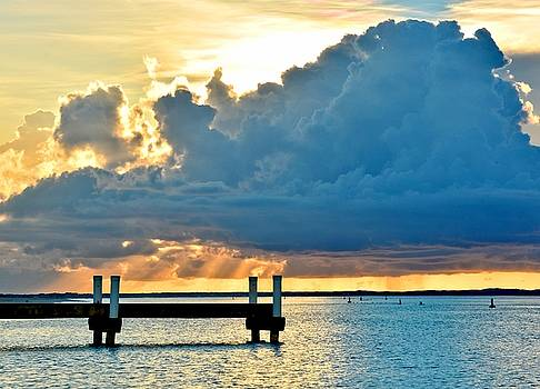 Pier during Sunset at Grace Bay by Amy McDaniel