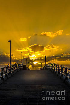 Pier Into The Rays by Marvin Spates