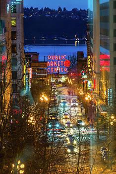 Pike Place Market - Seattle by Hisao Mogi