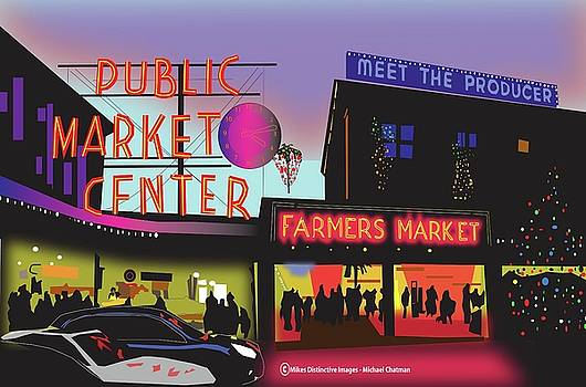 Pikes Place Market Seattle by Michael Chatman