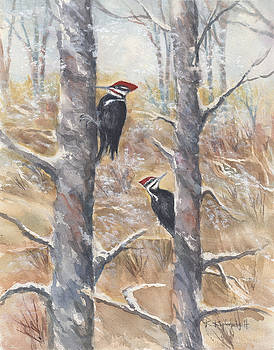 Pileated Couple by Kerry Kupferschmidt