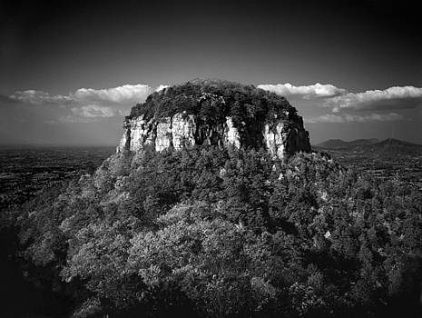 Pilot Mountain Back and White by Mark Wagoner
