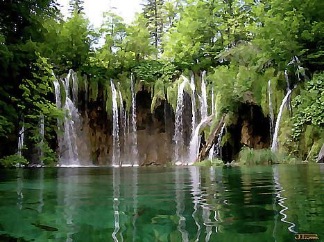 Piltvice Lake Falls by Jann Paxton