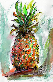 Ginette Callaway - Pineapple Ananas Watercolor