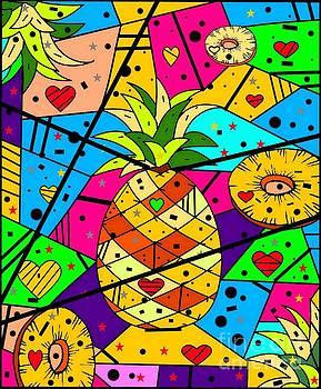 Pineapple Popart by Nico bielow by Nico Bielow