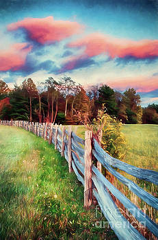Dan Carmichael - Pink Autumn Sunset in the Blue Ridge AP