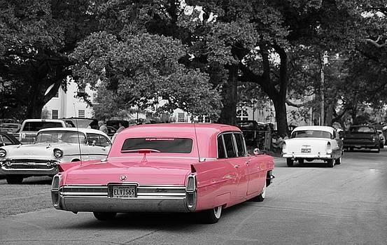 Pink Cadillac Cruisin the Coast 2015 by Susan Bordelon