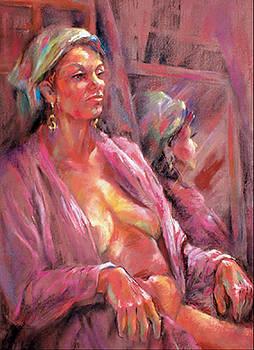 Pink Chenille by Joan  Jones