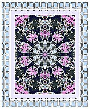 Pink Deco Medallion by Shirley Moravec