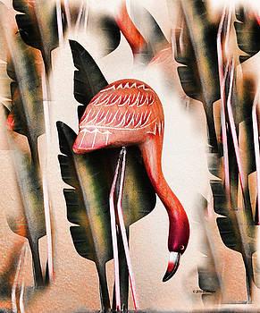 Pink Flamingo I by Deborah