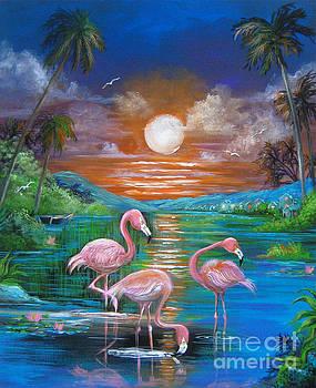 Pink Flamingos by Patrice Torrillo