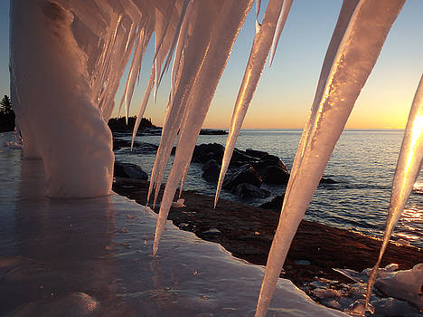 Pink icicle Sunrise by James Peterson