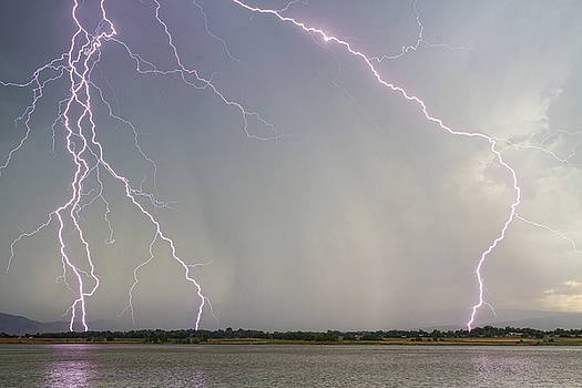 Pink Lightning Strikes by James BO  Insogna