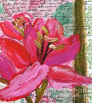 Pink Lily 2 by Sherry Harradence