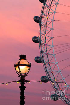 James Brunker - Pink London Eye Sunset 2