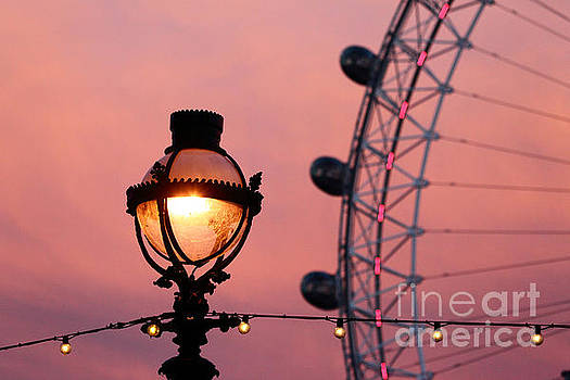 James Brunker - Pink London Eye Sunset 3