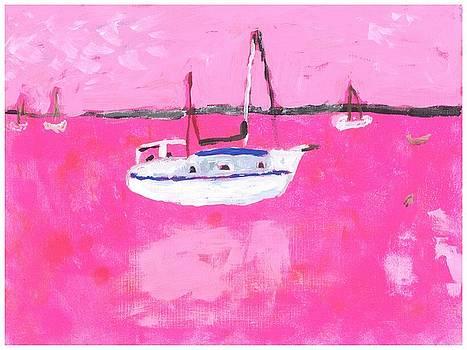 Pink Ocean 1 by Rosemary Mazzulla