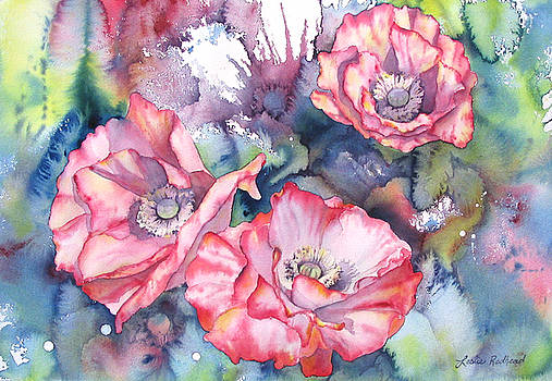 Pink Poppies by Leslie Redhead
