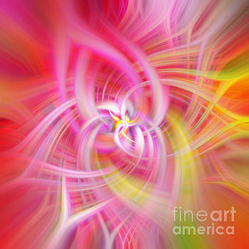 Pink Rainbow Abstract by Phill Petrovic