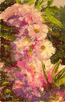 Pink Rhodies by Mary McInnis