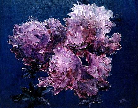 Pink Rhododendrons by Diane Kraudelt