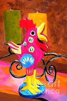 Pink Rooster by Melinda Etzold